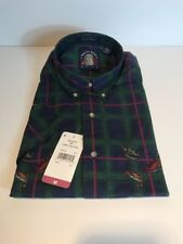 NOS Gant Men's Salty Dog M Short Sleeve Button Up Shirt Season Of The Angler (K)