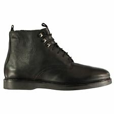 Mens H By Hudson Battle Boots Smart Lace Up Tonal Stitching New
