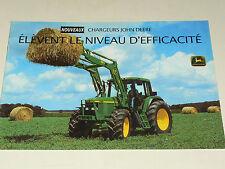 Prospectus Tracteur JOHN DEERE Chargeurs  tractor traktor prospekt trattore