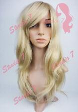 W124 Bleached Sandy Blonde Long Wavy Wig Synthetic Skin Top studio7-uk