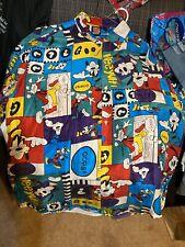 Goofy 100% Silk Shirt Men's Short Sleeve Disney Mickey Unlimited XL