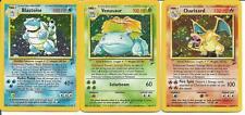 Pokemon TCG  Charizard Blastiose Venusaur Base Set 2 NM/M - SAME DAY SHIPPING!
