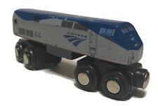 Wooden Amtrak Train P42 Superliner Locomotive - Compatible with BRIO & Thomas
