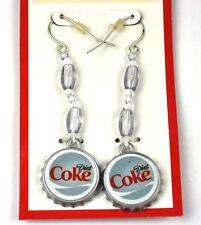COCA COLA Dieta COKE Pendientes EarRings TAPA DE BOTELLA FORMA BOTTLE CAP Estilo