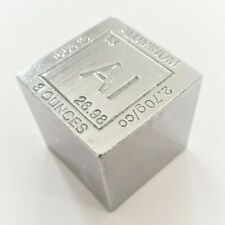 3 Ounce .999 Fine Aluminum Elemental Cube - 1.25'' x 1.25''