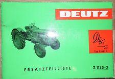 Deutz Schlepper D40 S Ersatzteilliste