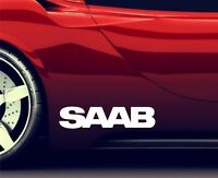 2x Side Skirt Stickers Fits Saab Premium Qaulity Graphics Decals RA87