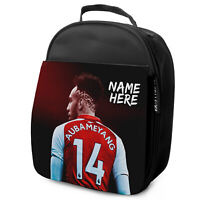 AUBAMEYANG Lunch Bag Arsenal School Insulated Boys Football Personalised NL03