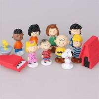 12 PCS Peanuts Charlie Brown Snoopy & Friends Figures Set Cake Topper Party Toy