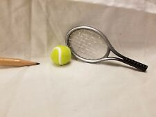 O009 Dollhouse 2pcs Sport Silver Tennis Set Ball Miniature Ken 1:6