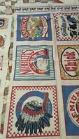 Feed sack look cotton fabric squares quilting crafts sewing fabric Sugar Chick