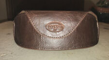 FOSSIL Leather & Suede Eyeglass/Sunglass Magnetic Closure Case
