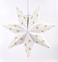 Weihnachtsstern Dekostern Ø45cm Fensterstern Stern weiß Papierstern hängend E14