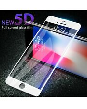 100% 5D Gorilla Tempered Glass Screen Protector For Apple iPhone6,7,8 Plus WHITE