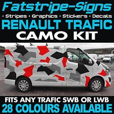 RENAULT TRAFIC CAMO GRAPHICS STICKERS DECALS CAMOUFLAGE SWB LWB DAY VAN CAMPER