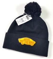 NWT! VANS Off The Wall Big Pin Pin Beanie Black Hat Lid Skate Surf One Size NEW!