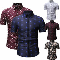 Men's Slim Fit V Neck Short Sleeve Stylish Formal Tee T-shirt Casual Tops Shirts