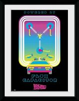 Back to the Future Flux Capacitor Collector Print Frame Poster Bild Rahmen