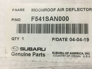 2020 Subaru Outback & Legacy OEM Moonroof Air Deflector Dam F541SAN000 NEW SUN