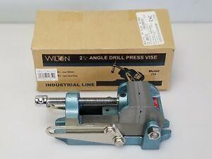 "Wilton Model 25A 12850 2-1/2"" Angle Drill Press Vise 1-1/2"" Jaw Depth, NEW"