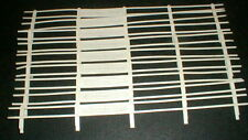 Vintage 1960's Special White Guard Rail Fence by Strombecker #9120 1/32th scale