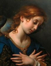 Oil painting Carlo Dolci Angel for Coronation of the Virgin no framed canvas ART