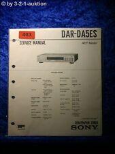 Sony Service Manual DAR DA5ES Tuner (#0403)