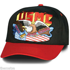 MARINE CORPS USMC DEATH BEFORE DISHONOR FLAG EAGLE  MILITARY HAT CAP