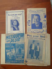 19 ancienne partition Louis Mariano, Maurice Chevalier,...
