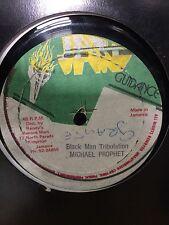 "MICHAEL PROPHET  ""BLACK MAN TRIBULATION"" ON THE JAH GUIDANCE LABEL 12"" HEAR."