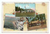 ca 1915 Scenes at Camp Letts Washington DC YMCA Postcard