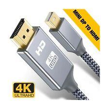 Capshi Mini DisplayPort to HDMI Cable - 6Ft Thunderbolt to HDTV Cord Mini DP ...