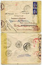 FRANCE WW2 GUADELOUPE 3rd REICH CENSOR 1941 RETURNED MEXICO TRANSITS ADDRESS INS