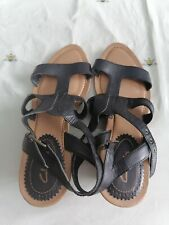 Ladies Clarks Black Sandals Size 8