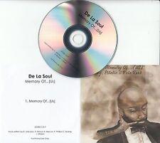 DE LA SOUL Featuring ESTELLE & PETE ROCK Memory Of... (Us) UK 1-track promo CD