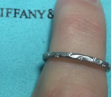 TIFFANY WHITE GOLD HAMMERED RING WITH DIAMONDS BY PALOMA PICASSO