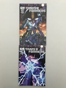 Lot of 2 Transformers Dark Cybertron Finale (2014 IDW) #FINALE VF Very Fine