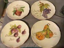 Crate and Barrel Verona Fruit Plates Set of 4 New With Tags