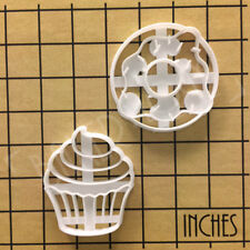 Set of Cupcake & Doughnut cookie cutters | donut fairy cake cute party biscuit