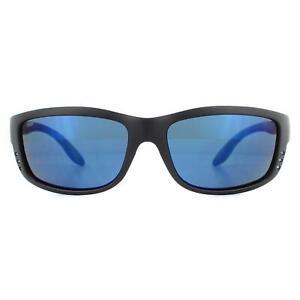 Costa Del Mar Sunglasses Zane ZN 11 OBMP Matte Black Blue Mirror Polarized