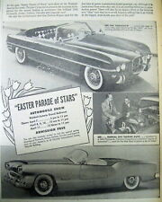 <1954 newspaper NEW YORK AUTO SHOW Poster DODGE FIREARROW Plymouth Belmont CARS