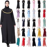 Womens Islamic Muslim Chiffon Full Cover Costumes Modest Swimwear Swimming Burki