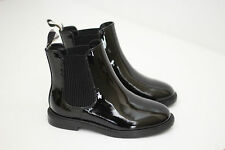 NEW Burberry Children Chelsea Boot - Black Patent Leather - Toddler 8.5US / 26