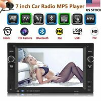 "6.2"" Double 2DIN Bluetooth Touch Screen Car Stereo MP5 MP3 NO DVD Player +Camera"