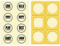 SEALS - JILLIBEAN Clear Rubber Stamp & Stencil Set for Scrapbook Stamping