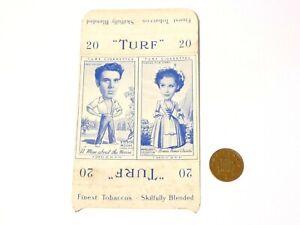 TWIN Carreras Turf Brand Card Kieron Moore and Margaret Leighton a/f