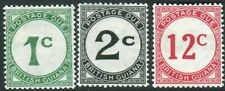 BRITISH GUIANA-1940-55 Postage Dues. An unmounted mint set Sg D1 D2 D4