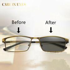Gold Anti blue light Multifocal Progressive transition reading&distance glasses