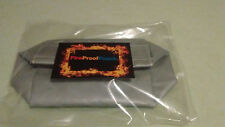 """FIREPROOF BAG POUCH"" Fire Resistant Document Bag,Safe,Box,Money,9"" x 7""x 4""Cash"