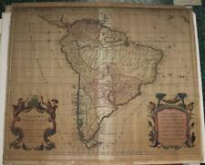 SOUTH AMERICA 1684 JAILLOT UNUSUAL ANTIQUE ORIGINAL COPPER ENGRAVED MAP